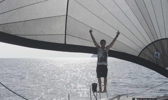 Fede captain of the catamaran hire Ibiza
