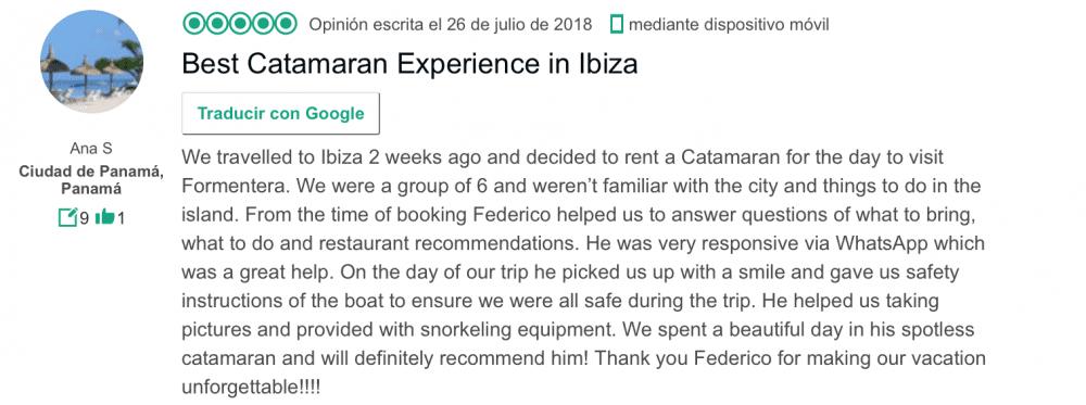 catamaran charter Ibiza Formentera
