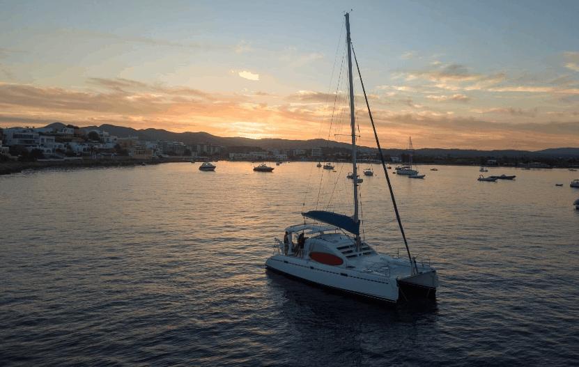 excursión en catamaran en Ibiza Formentera