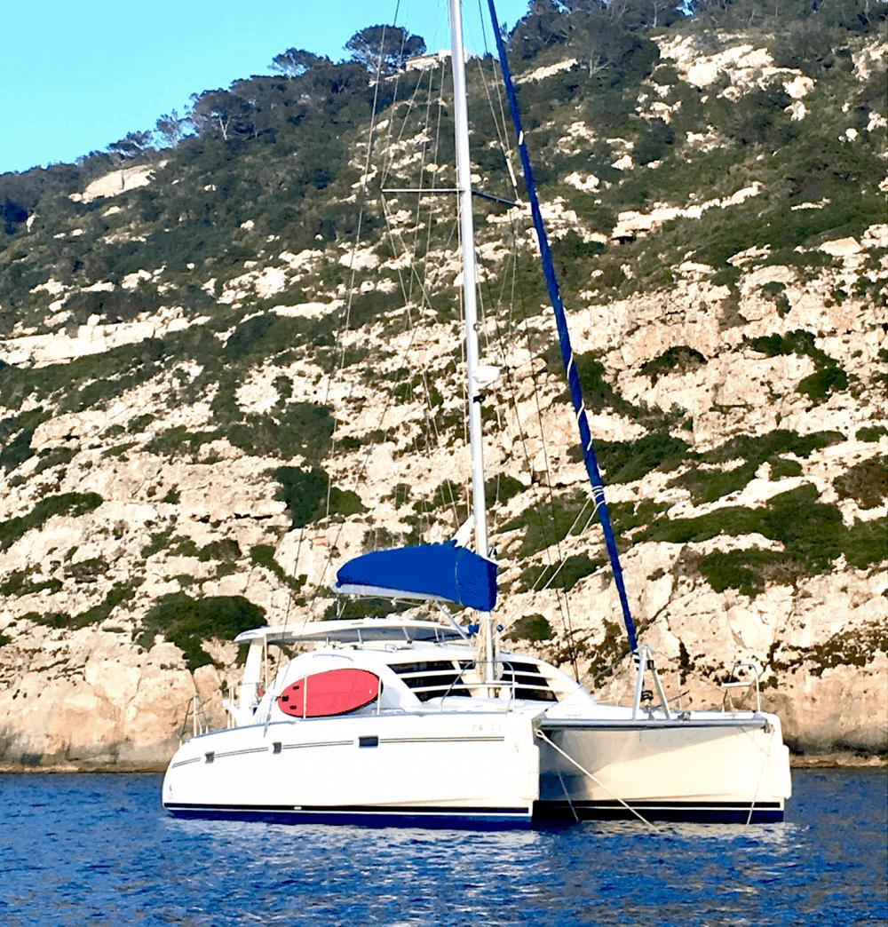 Catamaran Geronino in Formentera