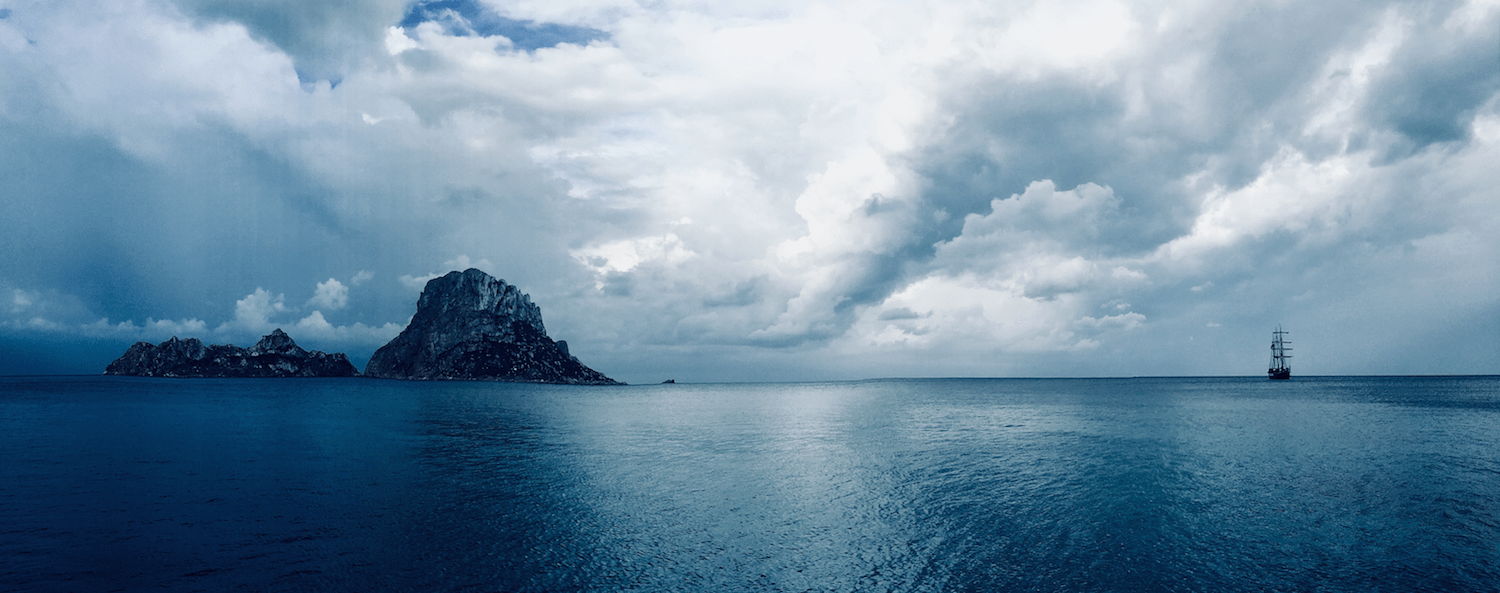 Day Charter Ibiza - We also have cloudy days...sometimes..almost never :)