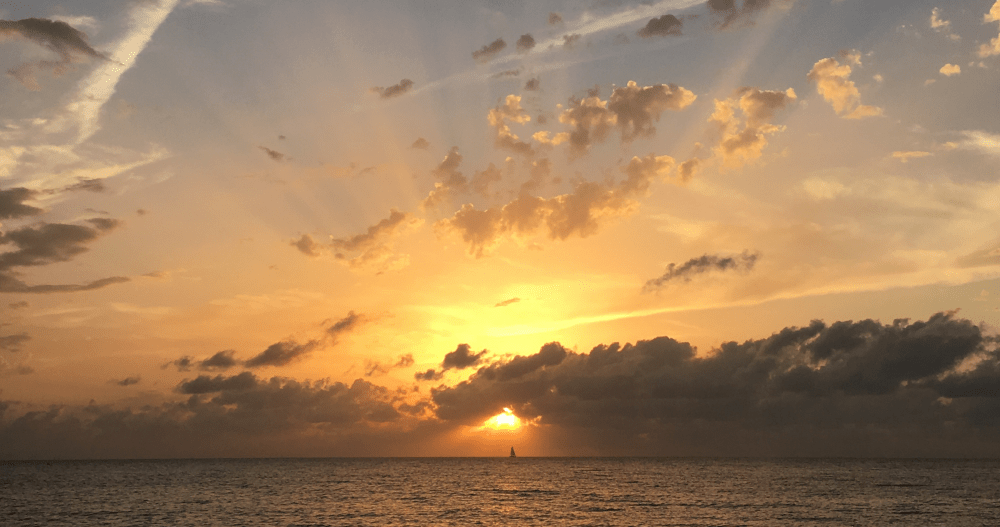 Sunset on a catamaran is an unforgettable experience