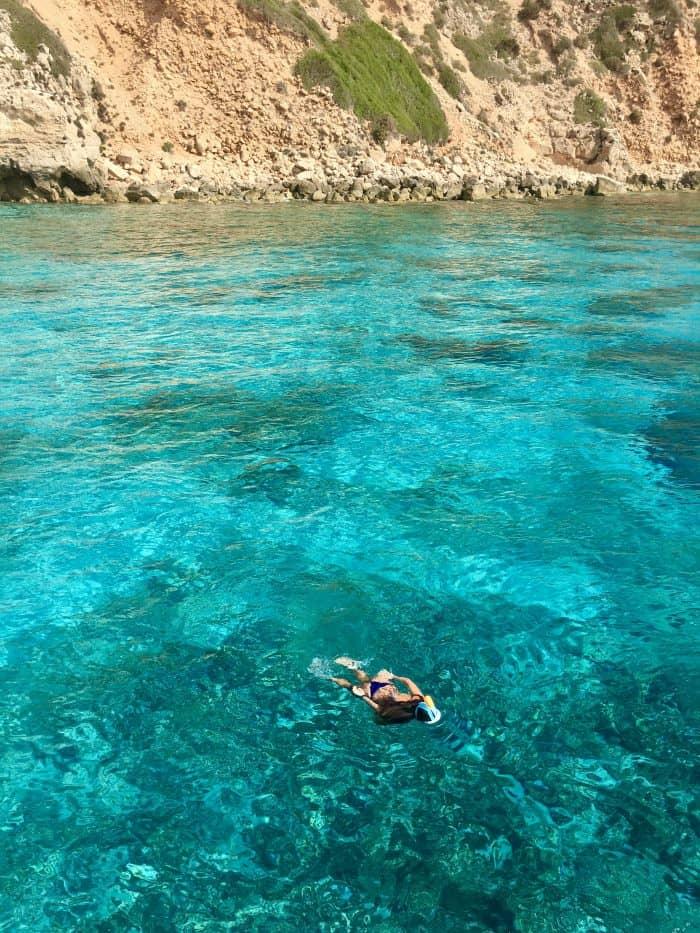 Snorkeling in Ibiza