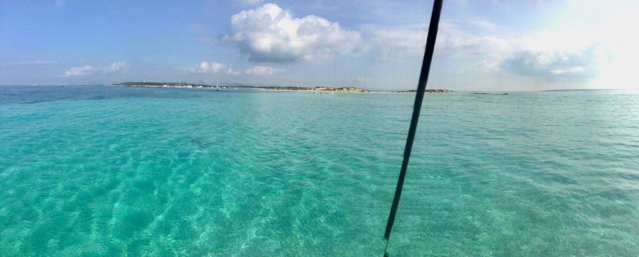 Day Charter Ibiza Formentera, Es Palmador from the catamaran